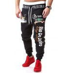 Graphic Printed Beam Feet Lace-Up Jogger Pants