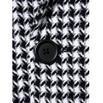 Single Breasted Houndstooth Wool Blend Coat for sale