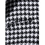 best Single Breasted Houndstooth Wool Blend Coat