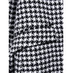 Single Breasted Houndstooth Wool Blend Coat deal