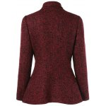 cheap Inclined Zipper Marled Jacket