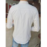 Long Sleeve Floral Wash Painting Printed Shirt for sale