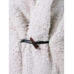 One Button Fuzzy Hooded Coat deal