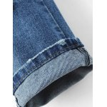 Ripped Bleach Wash Narrow Feet Jeans for sale