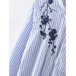 High-Low Embroidered Striped Shirt deal