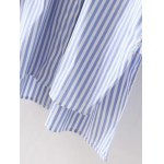 High-Low Embroidered Striped Shirt for sale