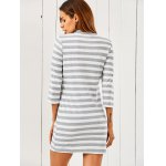 3/4 Sleeve Striped Sweater Dress for sale