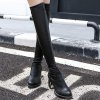Platform PU Leather Zip Thigh Boots deal