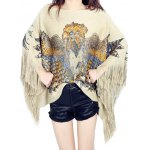 cheap Cape Fringed Loose Knitwear