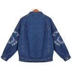 cheap Embroidered Buttoned Denim Jacket