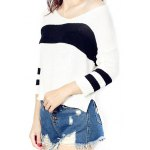 High Low Color Block Loose Sweater deal