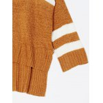 High Low Color Block Loose Sweater photo