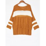 best High Low Color Block Loose Sweater