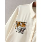Tiger Embroidered Fitting Shirt for sale