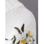 High-Low Embroidered Sweater for sale