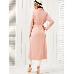 Draped Belted Duster Coat for sale
