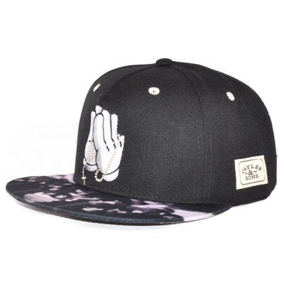 Chic Hands Embroidery and Patch Embellished Baseball Cap For Men