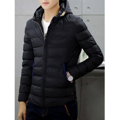 Zip-Up Hooded Padded Jacket