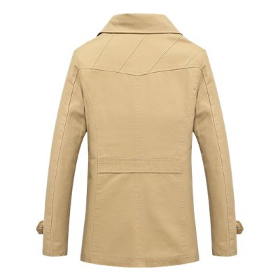 Notched Collar Epaulet Spliced JacketMens Jackets &amp; Coats<br>Notched Collar Epaulet Spliced Jacket<br><br>Clothes Type: Jackets<br>Style: Casual,Fashion<br>Material: Cotton,Polyester<br>Collar: Turn-down Collar<br>Clothing Length: Regular<br>Sleeve Length: Long Sleeves<br>Season: Fall,Winter<br>Weight: 0.700kg<br>Package Contents: 1 x Jacket