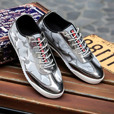 Camouflage Pattern Splicing Casual Shoes
