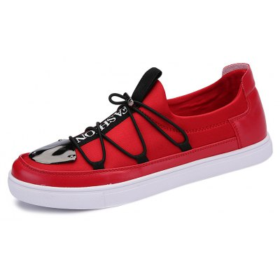 Stretch Fabric Cross Straps Casual Shoes