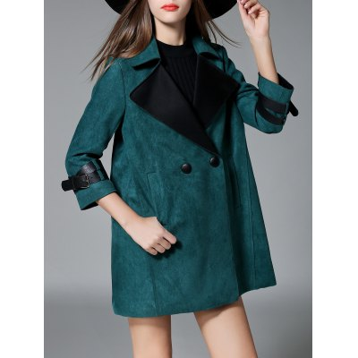 Sueded Lapel Trench CoatJackets &amp; Coats<br>Sueded Lapel Trench Coat<br><br>Clothes Type: Leather &amp; Suede<br>Material: Polyester<br>Type: Slim<br>Clothing Length: Long<br>Sleeve Length: Full<br>Collar: Turn-down Collar<br>Pattern Type: Solid<br>Embellishment: Button<br>Style: Casual<br>Season: Fall,Spring,Winter<br>With Belt: No<br>Weight: 1.070kg<br>Package Contents: 1 x Coat
