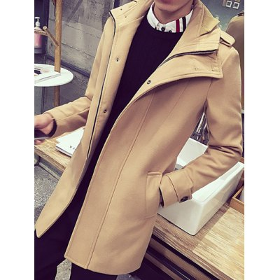 Turn-Down Collar Zip-Up Wool CoatMens Jackets &amp; Coats<br>Turn-Down Collar Zip-Up Wool Coat<br><br>Clothes Type: Wool &amp; Blends<br>Style: Fashion<br>Material: Polyester,Wool<br>Collar: Turn-down Collar<br>Clothing Length: Long<br>Sleeve Length: Long Sleeves<br>Season: Winter<br>Weight: 1.250kg<br>Package Contents: 1 x Coat