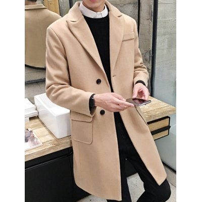 Lapel Flap Pocket Wool Blend Wind CoatMens Jackets &amp; Coats<br>Lapel Flap Pocket Wool Blend Wind Coat<br><br>Clothes Type: Wool &amp; Blends<br>Style: Casual,Fashion<br>Material: Cotton,Polyester,Wool<br>Collar: Turn-down Collar<br>Clothing Length: Long<br>Sleeve Length: Long Sleeves<br>Season: Winter<br>Weight: 0.950kg<br>Package Contents: 1 x Coat
