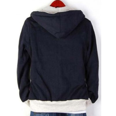 Zip Up Drawstring Contrast Insert HoodieMens Hoodies &amp; Sweatshirts<br>Zip Up Drawstring Contrast Insert Hoodie<br><br>Material: Cotton Blends<br>Clothing Length: Regular<br>Sleeve Length: Full<br>Style: Casual<br>Weight: 0.685kg<br>Package Contents: 1 x Hoodie