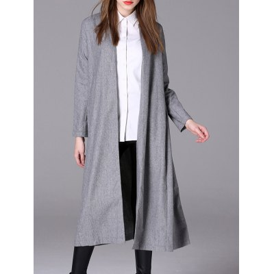 Duster Collarless Cotton Coat