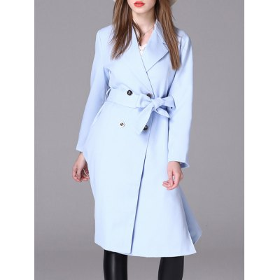 Belted Double Breasted Long Coat