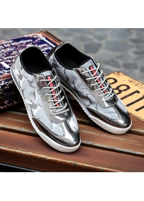 Lace-Up Camouflage Pattern Splicing Casual Shoes