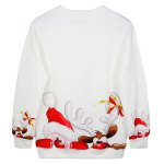 cheap Christmas Cartoon Santa Claus Print Sweatshirt