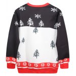 cheap Christmas Print Pullover Sweatshirt