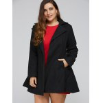 Plus Size Lapel Fit and Flare Coat deal