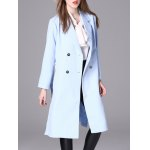 cheap Long Belted Double Breasted Coat