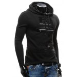 Zippered Slit Back Drawstring Graphic Hoodie deal