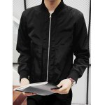 cheap Brief Stand Up Collar Zip-Up Jacket
