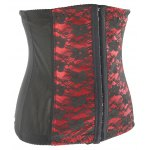 cheap Lace Spliced  Steal Boned Underbust  Corset