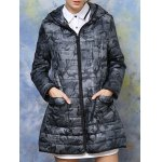 cheap Hooded Camouflage Padded Coat