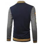 cheap Patch Design Varsity Striped Insert Baseball Jacket