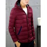 cheap Zip-Up Hooded Padded Jacket