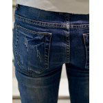 best Zigzag Stitch Scratched Zipper Fly Patched Ripped Jeans
