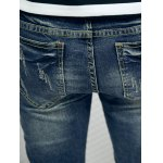 best Frayed Patch Design Scratched Zipper Fly Tapered Jeans