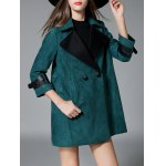 cheap Sueded Lapel Trench Coat