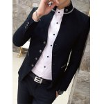 cheap Slim-Fit Stand Collar Single Breasted Blazer
