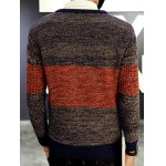 Round Neck Color Block Ribbed Knitted Sweater for sale