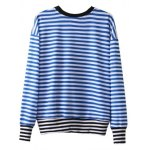 cheap Patched Striped Sweatshirt