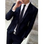 cheap Lapel Single Breasted Block Pattern Blazer