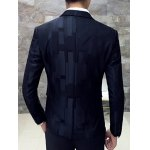 Lapel Single Breasted Block Pattern Blazer deal